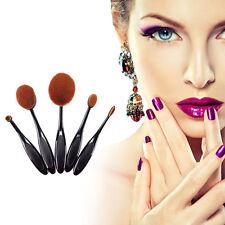 5pcs Black Makeup Brushes Set Toothbrush Foundation Powder Oval Cosmetics Tools