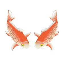 Koi Fish Combo Sneaker Iron On Embroidered Applique Patches