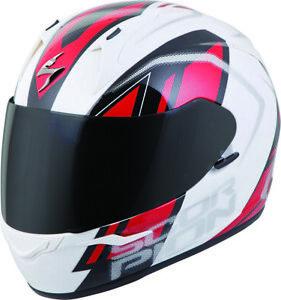 Scorpion EXO EXO-R320 Full-Face Helmet Endeavor (X-Small, White/Red)