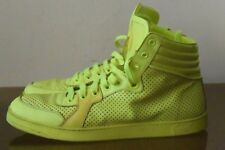 GUCCI Lime Green Leather Sneaker Hi-top Sz 10.5 G