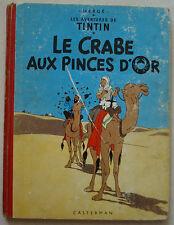 Tintin Le Crabe au Pinces d'Or HERGE éd Casterman rééd Dos rond B 30 1961