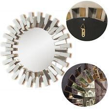 XL Retro Wandspiegel Rund Rahmen Gold Spiegelfläche Silber Barock Spiegel D50cm