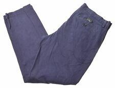 BANANA REPUBLIC Mens Chino Trousers W34 L32 Blue Cotton Emerson O102