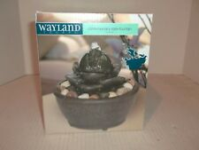 Wayland Square Contemporary Slate Fountain Step Fountain New in Box