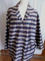 Chico's Design Silk Jacket Coat 2 M Striped 100% Shantung Long Sleeve Blazer