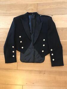 Prince Charlie Kilt Jacket Black Chest Size 40