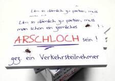 SCHEISSE GEPARKT 02 Notizblock Haftnotiz Frustabbau mit Charme und Fliege DUB