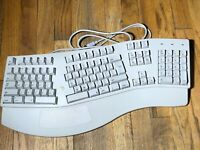 Adesso Apple Macintosh Ergo ADB MAC Keyboard Ports Natural kjxkb- 205 white alps