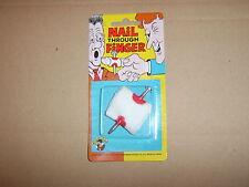 Nail Thru Finger.With fake blood on.Classic JokeTrick.