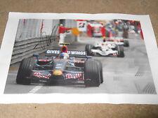 Sebastian Vettel Toro Rosso Hand Signed Canvas 449mm x 298mm Very Rare Large 1.