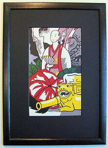 ROY LICHTENSTEIN STILL LIFE WITH FIGURINE FRAMED Pop Art Print