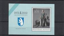 Greenland Kalaallit Nunaat 2012 MNH Queen Margrethe II 40th Jubilee 1v S/S