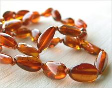 "Baltic amber necklace 46cm (18"") - lovely dark cognac colour"