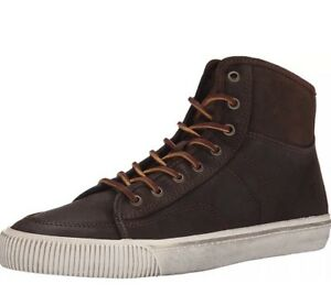 FRYE - 3481224 - MILLER - Men's High Top Lace Up Sneakers - Brown - Size 9