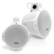 Pyle PLMRW65 PAIR of 6.5'' 200 Watt 2-Way Marine Wake Board Speakers (White)