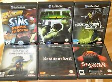 Lot 6 x Jeux Nintendo Gamecube GC= Second Sight Resident Evil Baudelaire Hulk...