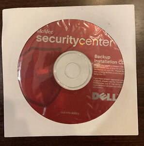 MCAFEE SECURITY CENTER BACKUP INSTALLATION CD FOR DELL - Sealed P/N M8553