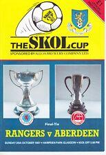 Scottish League Cup Final 1987 Rangers v Aberdeen