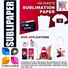 Sublipaper 100 Sh 85x14 Dye Sublimation Ink Heat Transfer Paper Mugs Blanks