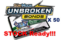 50x Sun and Moon Unbroken Bonds Pokemon PTCGO Online Codes Sent In Game Fast!