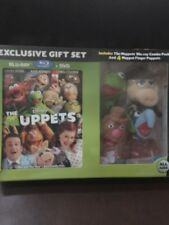 DISNEY THE MUPPETS BLU-RAY & DVD w/ FINGER PUPPETS Limited Edition Gift Set