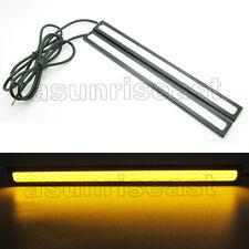 2 x Real Yellow Amber COB Car LED Light DRL Fog Driving Lamp Waterproof 17cm 12V