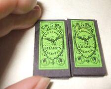 2 Packs Vintage GREEN Warranted SHARPS Elliptic size 5 /4 cm by 2 cm