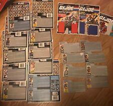 Gi Joe Vintage ARAH Cardback File card Lot of 21 Gung Ho LIft TIcket & More WOW