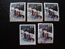 NORVEGE - timbre yvert et tellier n° 1081 x5 obl (A30) stamp norway