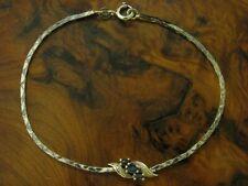 835 Silber Armband mit Saphir Besatz / Echtsilber / 3,4g / 18,5 cm