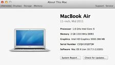 Apple MacBook Air 11 Inch Mid 2011