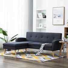 vidaXL Sofa in L-Form Stoffbezug Dunkelgrau Polstersofa Couch Ecksofa Eckcouch