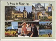 Alte Postkarte - Ein Schloss am Wörther See