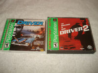 Driver 1 & 2 Complete for PlayStation 1 PS1 PS2 2 CIB **TESTED & WORKS GREAT**
