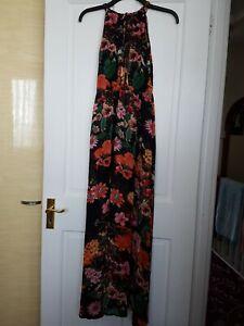 Chiffon floral maxi dress size 10