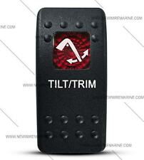 Labeled Contura II Rocker Switch COVER ONLY, Tilt / Trim (RED lens)