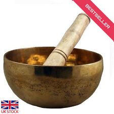 Buddhist Tibetan Singing Bowl Prayer Meditation Healing Bowls Brass Made+ Ringer