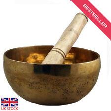 Buddhist Tibetan Singing Bowl Prayer Meditation Healing Bowls Brass Made+ Ringer
