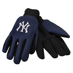 New York Yankees Blue + Black Team Logo Licensed MLB Sport Utility Gloves-New!