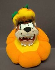 Vintage Ace Taz Tasmanian Devil Halloween Pumpkin Plush Stuffed Animal Toy Loony