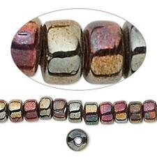 1827 Glass Beads Crow Cobalt Oil Slick 7mm 16inch *UK EBAY SHOP*