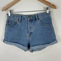 Forever 21 Womens Shorts 27 Blue Denim