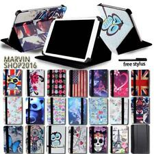 "For Various 8"" 10"" ZTE Tablet - FOLIO LEATHER STAND CASE COVER + Stylus"