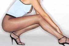 Cecilia de Rafael 8 den NYLON ULTRA SHEER TO WAIST *Black* Pantyhose Tights *XL*