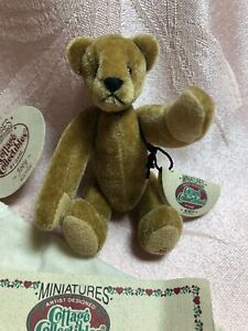 Ganz Miniatures Cottage Collectibles Bear JOEY CC7304 NWT
