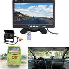"Bus Truck Dashboard 7"" LCD Rear View Monitor Night Vision Reverse Backup Camera"