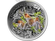 10 $ Dollar Nasenaffe Proboscis Monkey Fiji 2015 High Relief 2 oz Unzen Silber