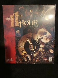 New Sealed—1995 The 11th Hour CD-ROM PC Game, 17+, Thriller, Big Box Version