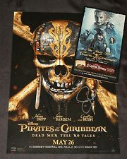 JOHNNY DEPP +2 Hand Signed 12x18 Poster PIRATES DEAD MEN TELL NO TALES w/ PROOF
