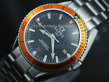 Alpha 922C Planet Ocean men's mechanical automatic watch, orange bezel